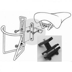 Adaptador plastico portabidon al sillin