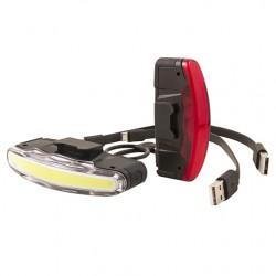 Kit Arco al manillar/Tija de sillin Cob-Led recargable USB