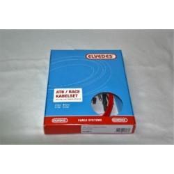 Kit cable cambio +  funda color rojo