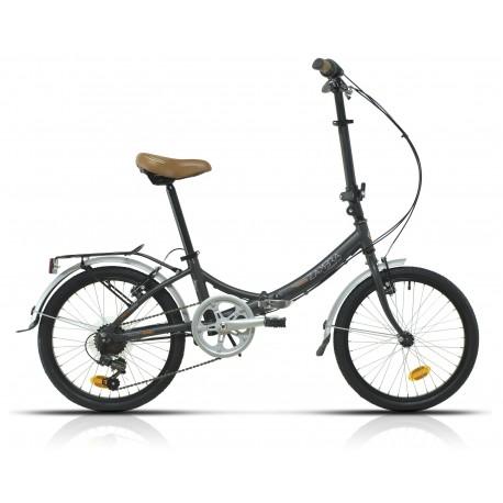 "Bicicleta Megamo aluminio 20"" plegable modelo Zambra Folding 6v."