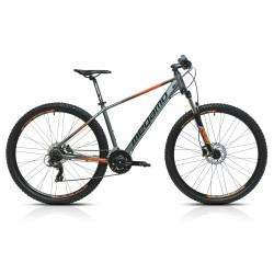 "Bicicleta  Megamo 27,5"" Natural 60  21v freno disco hidraulico Gris/Naranja"
