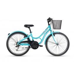 """Bicicleta Gitane paseo 24"""" 18 velocidades color turquesa"""