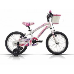 "Bicicleta Megamo 16"" modelo Kid Girl color blanca - rosa"