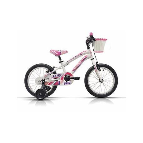 "Bicicleta Megamo 16"" modelo Kid Girl color blanca - rosa"