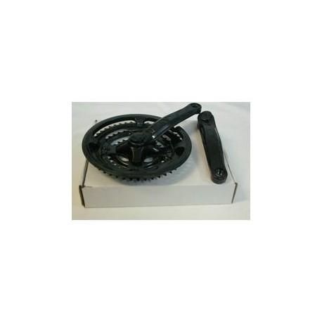 Bielas c/plato+izquierda acero plastificadas negras 28/38/48x170