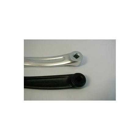 Biela izquierda aluminio 170 mm. eje cuadrado plata