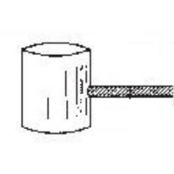 Cable ciclomotor cabeza martillo 10x11