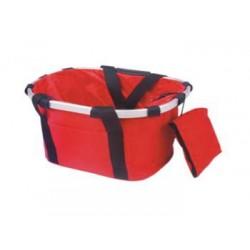 Bolsa transporte al manillar  roja con aro de aluminio