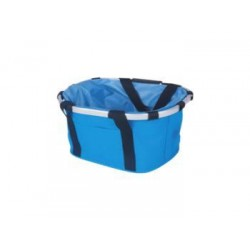 Bolsa transporte al manillar  azul con aro de aluminio